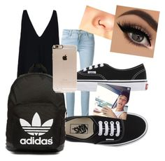 """""""Hanging out with Cameron Dallas"""" by cherineurohr ❤ liked on Polyvore featuring STELLA McCARTNEY, Frame Denim, Vans, adidas Originals and Incase"""