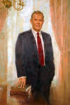 President Charles Ping portrait painting. Ping served as Ohio University's 18th president from 1975 to 1994. The Ping Recreation Center is named in his honor.