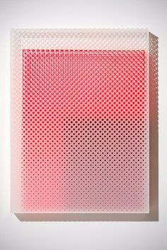 coral gradient make by holes Eva Speer - Acrylic Textures Patterns, Color Patterns, Book Design, Design Art, Graphic Design Pattern, Motifs Textiles, 3d Texture, Glass Texture, 3d Prints