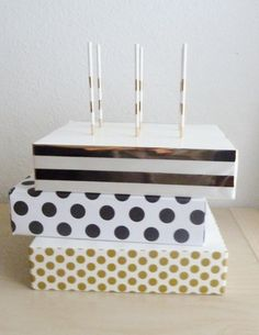 Party Decor Supply Gold Paper Straws Stars Circle Striped Chevron Party Favor Cake Pop Sticks