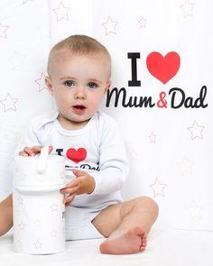 Kolekce kojeneckého oblečení a potřeb New Baby I love Mum and Dad Ale, New Baby Products, My Love, Ale Beer, Ales, Beer