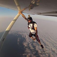 GoPro.  Yeah, he's not getting back in the plane...