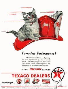 Purrr-fect Performance!  Texaco, 1946
