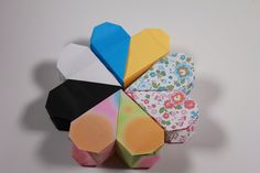 簡単折り紙 ハートボックス