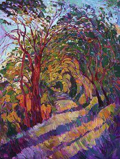 Path In The Oaks by Erin Hanson