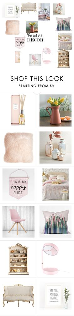 """""""Pastel Decor"""" by trinitymdobson ❤ liked on Polyvore featuring interior, interiors, interior design, home, home decor, interior decorating, Pillow Decor, West Elm, EnVogue and Ciel"""