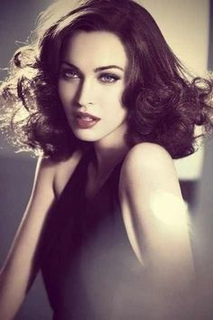 Megan Fox  -  She has that old Hollywood glam look in this pic. :)   -sr