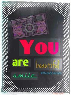You are beautiful #thinkdomisien