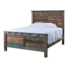 Omari Queen Bed. Rustic look.