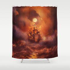 Perfect+storm.+Shower+Curtain+by+Viviana+Gonzalez+-+$68.00