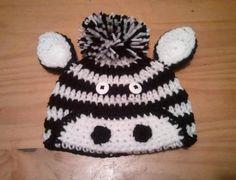 Baby Zebra Hat Crochet - Newborn NB Beanie Boy Girl Halloween Thanksgiving Costume Photo Prop Christmas Gift Winter Outfit. $22.99, via Etsy.