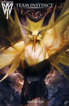 Team Instinct (Zapdos) - Pokemon Go - 11 x 17 Digital Print Pokemon Go, Pokemon Fan Art, Pokemon Fusion, Pikachu, Pokemon Decor, Pokemon Super, Pokemon Stuff, Mochila Pokemon, Wizyakuza Anime