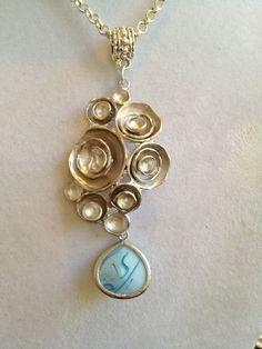 Bridal Silver Pendant Necklace by joytoyou41 on Etsy, $35.00