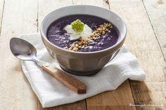 Biancavaniglia Rossacannella: #1 VELLUTATA di patate violette e cavolfiore verde #soup