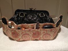 Purse Organizer in Sweet Coral by ZigsZagsNSuch on Etsy, $10.00