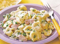 Tortellini with Ham and Peas Recipe