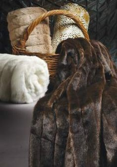 Nantucket Home, Inc. | Sable Brown Faux Fur Throw. I want to wrap up in this for the day...