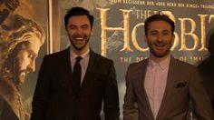 """Der Hobbit: Smaugs Einöde Interview mit Dean O'Gorman & Aidan Turner: """"Wir sind cooler als Bilbo"""" #kili #fili #hobbit #thehobbit #aidanturner #deanogorman #interview Copyright 2013 Blogbusters)"""