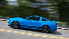 2014 Ford Mustang Shelby® GT500® with SVT Performance Package in Grabber Blue with Black Stripes