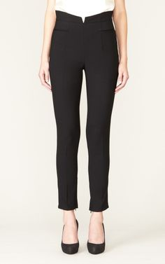 192 High-Waisted Winged Skinny   Alvin Valley - Pants Perfected. Flawless Fit.