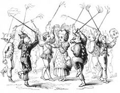 A Drawing of Christmas Mummers in England 1847