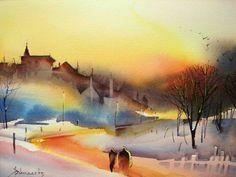 Sky, people, shadow, white Roland Palmaerts