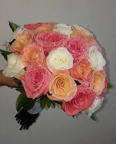 Wedding Bouquet for the happiest day of your life . Orange Flowers, Unique Colors, White Roses, Happy Day, Flower Art, Wedding Bouquets, Floral Wreath, Wedding Day, Wreaths