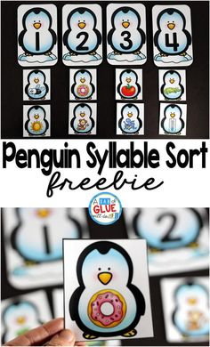 I always love being able to incorporate themes into my students' learning. This Penguin Syllable Sort Printable does just this. This freebie will be the perfect addition to your literacy centers for your little learners. Syllables Kindergarten, Kindergarten Centers, Preschool Literacy, Kindergarten Activities, Winter Activities, Kindergarten Freebies, Preschool Winter, Work Activities, Alphabet Activities