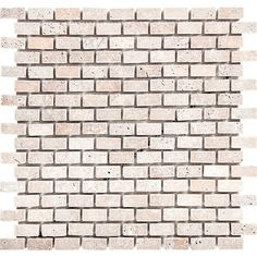 """Found it at Wayfair - Tumbled Brick 1"""" x 2"""" Stone Mosaic Tile in Ivory"""