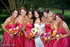 Mrs. Jackson and her beautiful wedding party! What a fun group!
