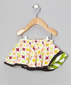 Take a look at this Lime Zigzag Reversible Swing Skirt - Infant, Toddler & Girls on zulily today!