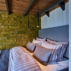 Kork vegg fra WALL-IT forbedrer akustikk og gir et trendy uttrykk Brick, Bed, Wall, Projects, Furniture, Design, Home Decor, Log Projects, Decoration Home