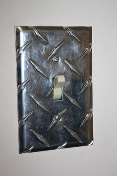 Switch Plate Diamond Plate - for the man cave/garage Man Cave Garage, Car Man Cave, Garage Bar, Garage Storage, Car Garage, Car Themes, Room Themes, Race Car Room, Light Switch Plates