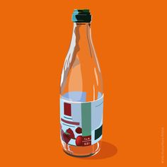 Clear glas recycling -SSSB by Marie Åhfeldt/Mås Illustra. #recycling #illustration