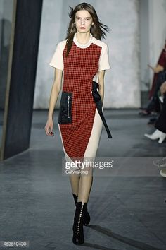 News Photo : model walks the runway at the 31 Phillip Lim... #Marsala