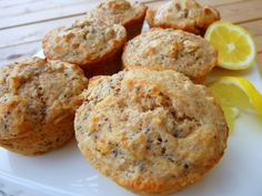 Whole Wheat Lemon Poppy Seed Muffins - Cookin' Cowgirl
