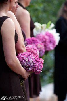 Pink hydrangea bouquets