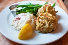 "This is a wonderful recipe that is a knock off of the famous 'Crab Bomb"" Served at Jerry's Seafood in a suburb of Washington D. It is rich with butter and most importantly, jumbo lump crab meat. The serving size is huge, about 1 Crab Cake Recipes, Fish Recipes, Seafood Recipes, Dinner Recipes, Cooking Recipes, Healthy Recipes, Recipies, Seafood Appetizers, Holiday Recipes"