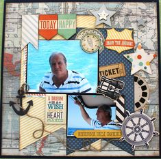 Remember these moments - Scrapbook.com  This favorite layout features the Now and Then Dream Big Collection from My Mind's Eye.