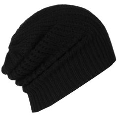 Haze Beanie ($39) ❤ liked on Polyvore featuring accessories, hats, beanies, black, black beanie hat, allsaints, black beanie, black hat and beanie hats