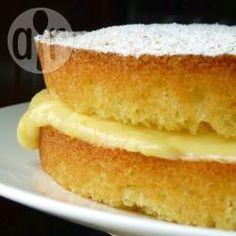 Lemon Victoria sponge cake @ allrecipes.co.uk