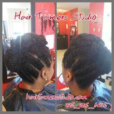 Natural hair styles , up dos , pin up styles , twist , braid styles , buns , hair stylist , natural , hair , healthy hair , hairtamersstudio.com