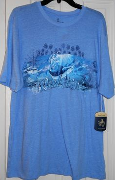96487337 Details about New Nat Nast Luxury Orig Reel It In Fishing Saltwater Fish  Blue Stretch Shirt~M