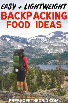Variety is the spice of life when it comes to planning your backpacking meals! This post has TONS of backpacking food ideas so you will always have something tasty to look forward to on your next backpacking trip. We share our favorite lightweight, simple Ultralight Backpacking, Backpacking Food, Camping Meals, Camping Hacks, Camping Recipes, Backpacking Checklist, Camping Cooking, Camping Guide, Camping Stuff