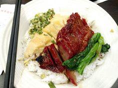 香港毎日ローカル飯: ランチ激戦区でもサクッと食べられる定番ご飯 叉焼切鶏飯 $50 @中環, 雅翠焼味茶餐廳