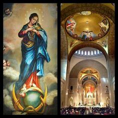 Basilica of the National Shrine of the Immaculate Conception in Washington, D. Catholic Books, Catholic Saints, Catholic Churches, Patron Saints, Blessed Mother Mary, Blessed Virgin Mary, Catholic Company, Native American Quotes, Queen Of Heaven