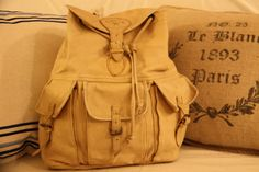 Vintage Camel Brand Soft Leather Backpack by sweetserendipityvint, $75.00