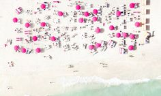 Antoine Rose, 40, took these shots while hovering between 100 and 1,500 feet in the air over the sandy coastline of Miami.