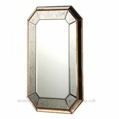 Buy Rectangle Mirror With Antique Mitred Frame 120 x 80 cm online now, with Free UK Delivery Contemporary Bedroom Furniture, Mirrored Furniture, Shabby Chic Furniture, Venetian Glass, Antique Glass, Art Deco Mirror, Luxury Interior, Antiques, Coach House