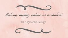Making money online as a student: 30 days challenge Make Money Online, How To Make Money, 30 Day Challenge, About Me Blog, Challenges, Student, Posts, Earn Money Online, Messages